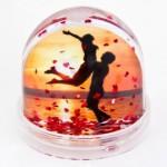 водяной шар с фото и сердечками